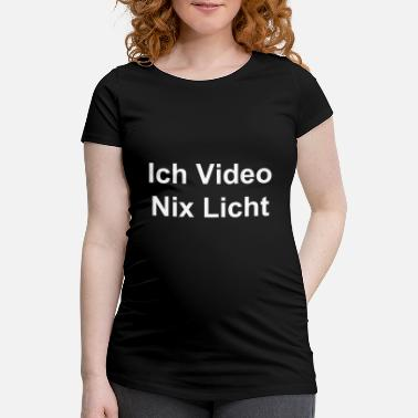 Video No video nada ligero, para técnicos de video. - Camiseta premamá
