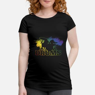 Rhythm Rainbow colors drums splashart drummer - Maternity T-Shirt