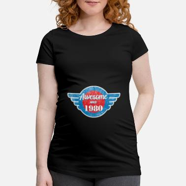 Since Awesome since 1980 - Maternity T-Shirt