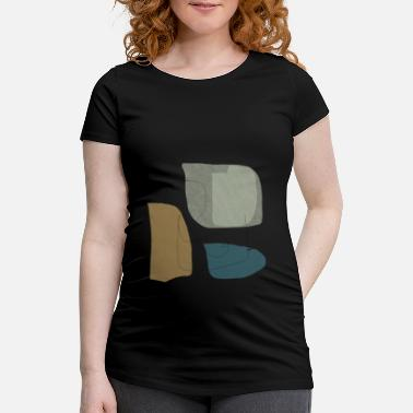 Form Underwear Minimalistic abstract background N3 - Maternity T-Shirt