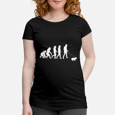 Loopy ++ ++ Dog owners Evolution - Women's Pregnancy T-Shirt