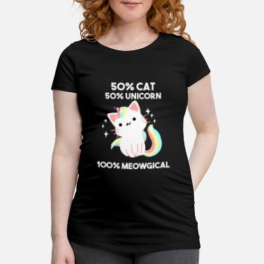 Unicorn 50% Cat 50% Unicorn Caticorn Magical Unicorn Cat - Vente T-shirt
