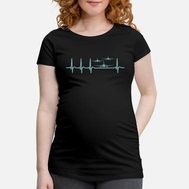 Air Race Heartbeat Air Show Air Race Airplane Shirt - Maternity T-Shirt