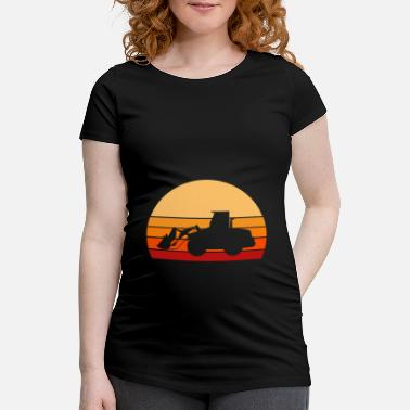 Road Construction Bulldozer vintage construction worker excavator construction machine - Maternity T-Shirt
