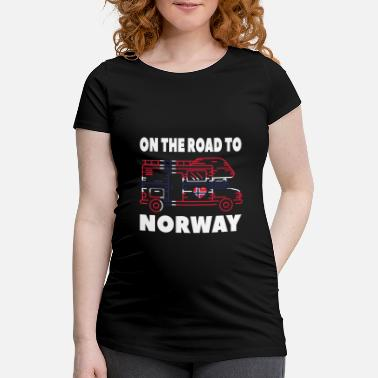 Norway On the road to Norway Camper Camping Norway - Maternity T-Shirt