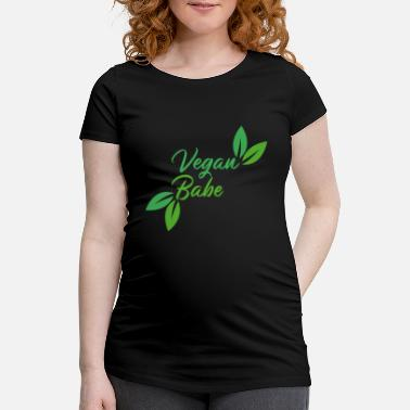 Healthy Vegan Babe Meat Free Healthy saying gift - Maternity T-Shirt