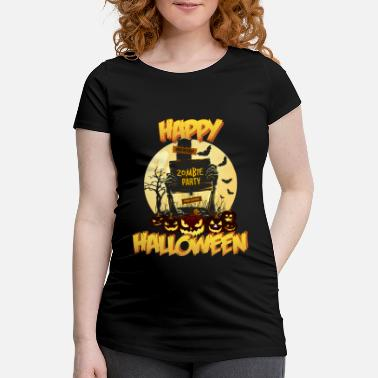 Ripped Vampire Halloween pumpkin RIP zombie party horror - Women's Pregnancy T-Shirt