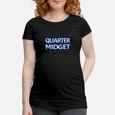 Midget Quarter Midget Racing Car Youth and Kids Blue - Women's Pregnancy T-Shirt