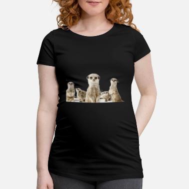 Suricates Griffonnage aztèque-NEUF Coton Gris Gris T-Shirt