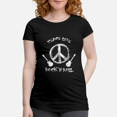 Roll Tide Funny Rock'n Roll T-Shirt Peace Love and Rock and - Women's Pregnancy T-Shirt
