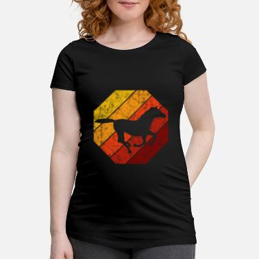 Dressage Rider Retro Riding Horse Horse Pony Equestrian - Maternity T-Shirt
