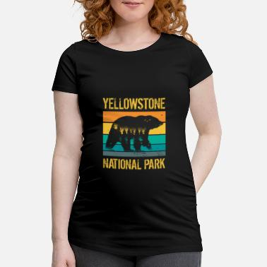 Bjerg Yellowstone National Park vintage bjørn - Vente T-shirt