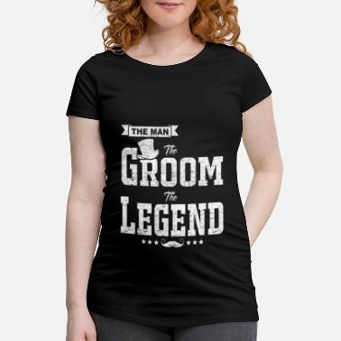 Gentleman The Man The Groom The Legend Funny Bachelor Gift - Maternity T-Shirt