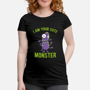 Monster Monster jag på ditt söta monster - Gravid T-shirt