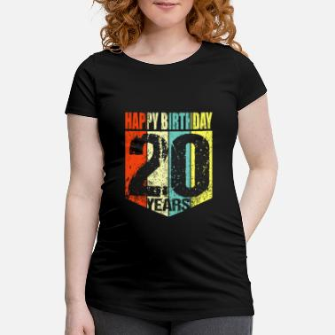 20th 20th birthday - Maternity T-Shirt