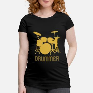 Teenager Retro Pop Art drummer.Drumming Kit. Musician Gifts - Maternity T-Shirt