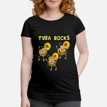 Music Production Tuba Rocks for Dark Products - Women's Pregnancy T-Shirt