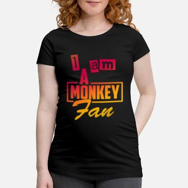 Primat Monkey primate primate simiiformes saying gift - Maternity T-Shirt