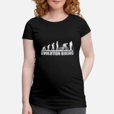 Cyclist Bicycle Evolution cyclist cyclist - Maternity T-Shirt