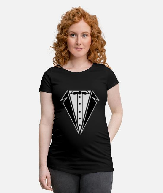 Generation T-Shirts - Tuxedo - Maternity T-Shirt black