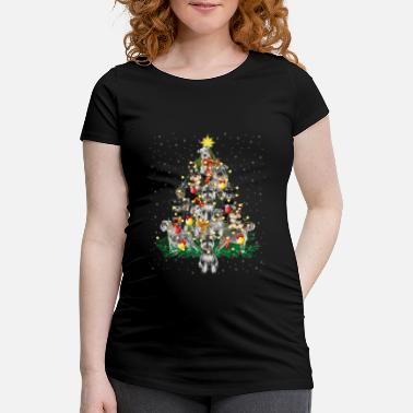 Schnauzer Dogs Christmas Pine Tree Funny Schnauzer Dogs Christmas Pine Tree Funny - Maternity T-Shirt