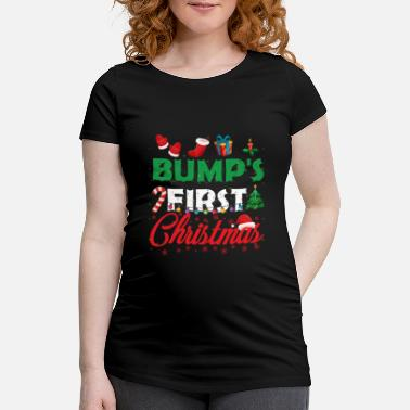 First Bump's First Christmas Funny Mummy To Be Christmas - Maternity T-Shirt