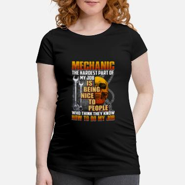 Think Pink Mechanic Being Nice To People Who Think They Know - Schwangerschafts-T-Shirt