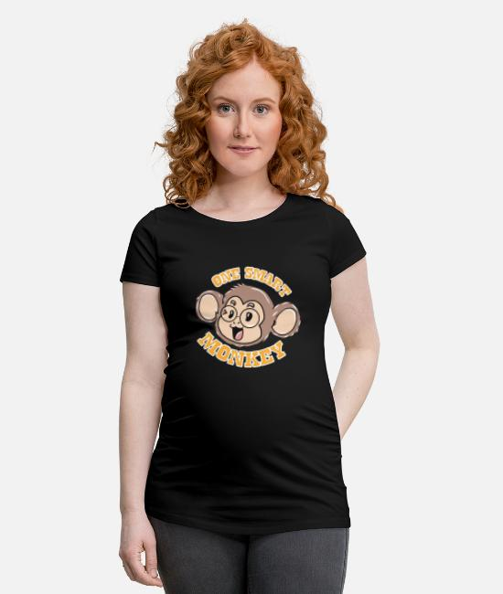 Singes T-shirts - Singe intelligent - T-shirt de grossesse noir
