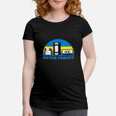 Cassette NEVER FORGET CASSETTES and DISCS - Maternity T-Shirt