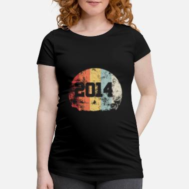 Production Year Vintage 2014 14 Birthday Retro Vintage Gift - Maternity T-Shirt