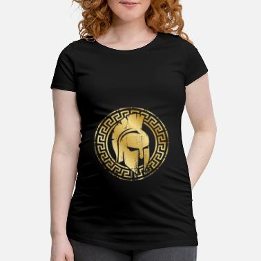 Greek Mythology spartan helmet gold - Maternity T-Shirt