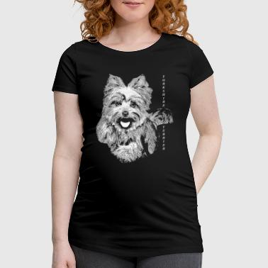 Yorkshire Portrait de Yorkshire Terrier - T-shirt de grossesse Femme