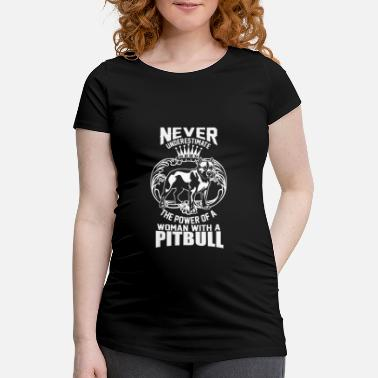 Satyr The power of a woman with a pitbull dog cute - Maternity T-Shirt