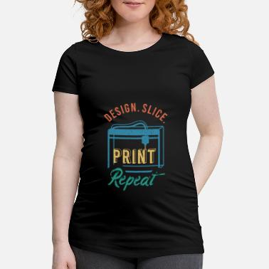 Industry 3D Print Gift Funny Quote 3D Print - Maternity T-Shirt