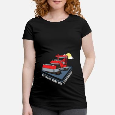 Road Construction Road builder road construction - Maternity T-Shirt