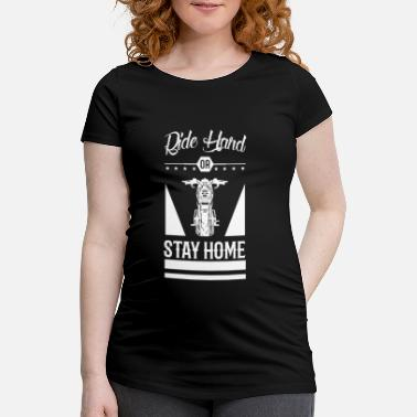 Løberute Ride Hard eller Stay Home Chopper Motorcycle - Vente-T-shirt