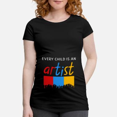 Weeskinderen Every child is an artist - Zwangerschaps T-shirt
