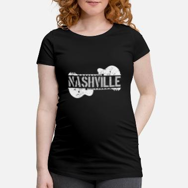 Countrymusic Nashville Guitar Country Music Gift - Maglietta premaman