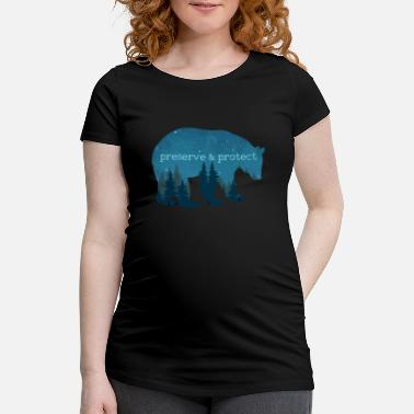 Nature Conservation Nature Conservation - Bear Nature Gift - Maternity T-Shirt