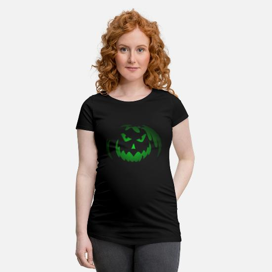 Lantern T-Shirts - Trick Or Treat - Maternity T-Shirt black