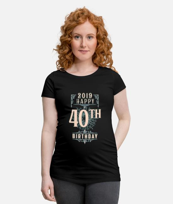 Uncle T-Shirts - 40 years 40th birthday 2019 1979 gift - Maternity T-Shirt black