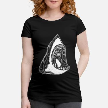 Illustration Grand requin blanc image Illustration de requins - T-shirt de grossesse