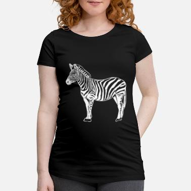 Illustration Zebra Image Zebra Illustration - T-shirt de grossesse