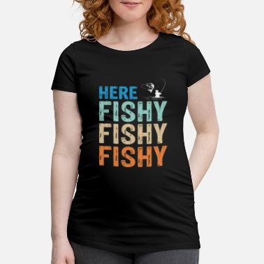 Deep Sea Fishing retro vintage fish - Maternity T-Shirt