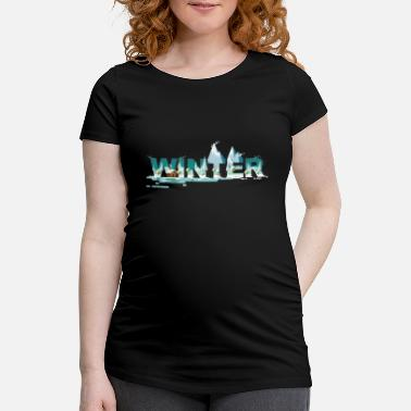 Winter Hygge Winter - Schwangerschafts-T-Shirt