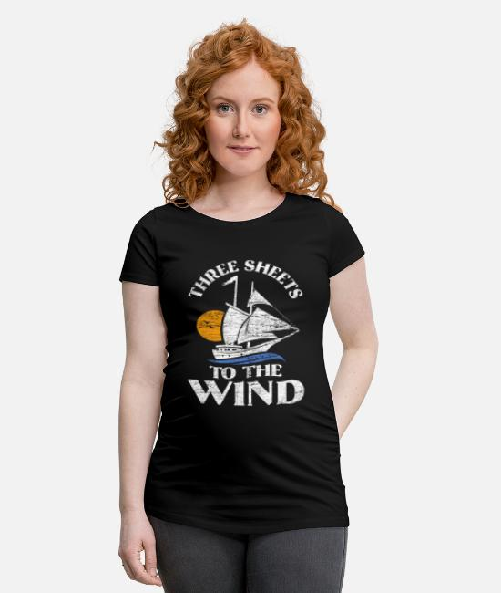 Waves T-Shirts - Sailing sail - Maternity T-Shirt black