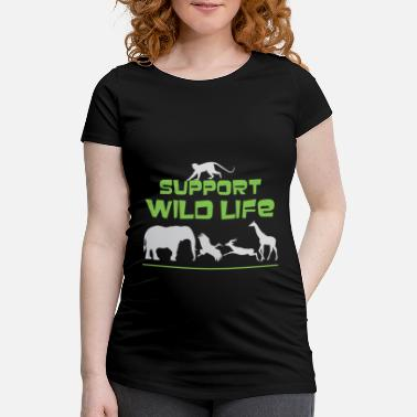 Wild Animal Parks Cute Support Wild Life for Wild Animal Lovers - Maternity T-Shirt