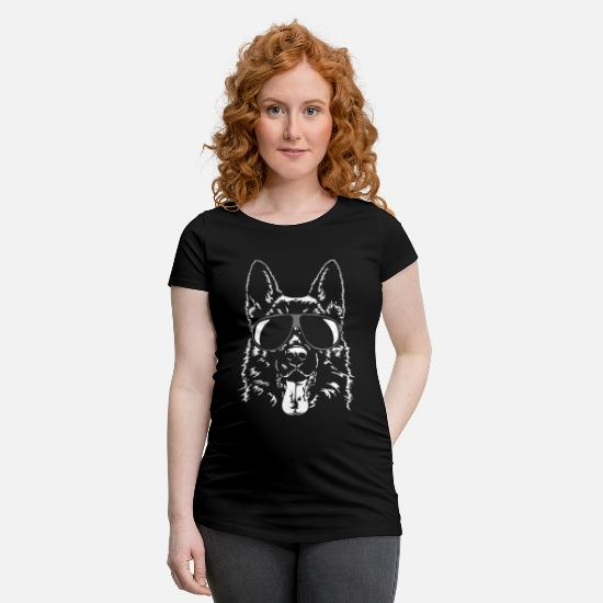 Animal De Compagnie T-shirts - BERGER ALLEMAND - BERGER ALLEMAND frais - T-shirt de grossesse noir