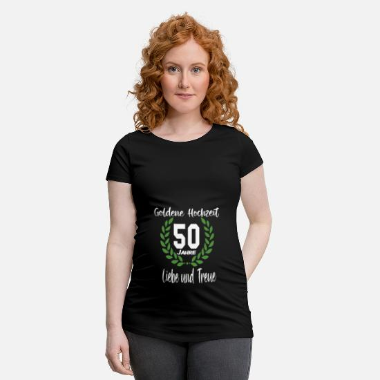 Love T-Shirts - 50 years of golden wedding - Maternity T-Shirt black
