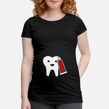 Toothpaste Tooth and toothpaste - Maternity T-Shirt